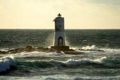 Lighthouse of Mangiabarche. Lighthouse of Sardinia near S.Antioco island Royalty Free Stock Image