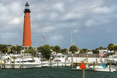 Lighthouse Marina Stock Photography
