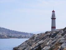 Lighthouse Marina Entrance Stock Image