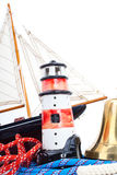 Lighthouse  and marine bell Stock Images