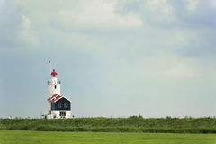 Lighthouse of Marken, the Netherlands Stock Photo