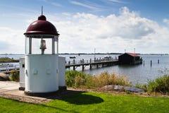 Lighthouse at Marken, Netherlands. Lighthouse at Marken at Netherlands royalty free stock images