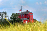 Lighthouse in Marquette Michigan Royalty Free Stock Images