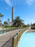 Lighthouse in Maspalomas, Gran Canaria Stock Image