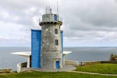 Lighthouse at Matxitxako, Cape Bermeo, Vizcaya,  Spain. Lighthouse at Matxitxako, Cape Bermeo, Vizcaya, Basque Country, Spain. bird watcher Royalty Free Stock Image