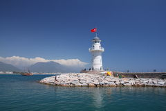 The Lighthouse. On the Mediterranean Stock Image