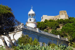 Lighthouse in the Mediterranean Costa Brava Royalty Free Stock Photos