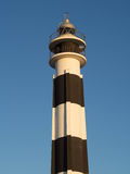 Lighthouse. In Mediterranean island in a sunny day royalty free stock photos