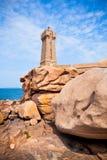 Lighthouse Men Ruz at Brittany, France Stock Photo