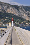 Lighthouse of Menton in France Stock Photography