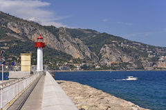 Lighthouse of Menton in France Stock Image