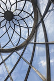Lighthouse metallic and glass dome structure detail and blue sky Stock Images