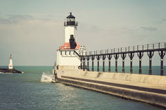 Lighthouse in Michigan City. Indiana royalty free stock images