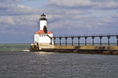 Lighthouse in Michigan City. Indiana royalty free stock photography