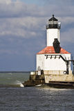 Lighthouse in Michigan City Royalty Free Stock Photos