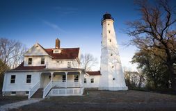 Lighthouse in Milwaukee Royalty Free Stock Images