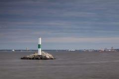 Lighthouse in Milwaukee, Wisconsin Stock Photo