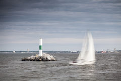 Lighthouse in Milwaukee, Wisconsin Royalty Free Stock Images