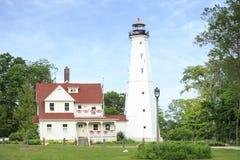 Lighthouse in Milwaukee, Wisconsin Stock Image