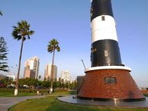 Lighthouse in a Miraflores district park of Lima Royalty Free Stock Image