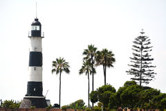 Lighthouse in Miraflores In Lima, Peru. Lighthouse in Suburb Miraflores of Lima - capital of Peru royalty free stock photo
