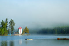 Lighthouse in the Mist Royalty Free Stock Photo