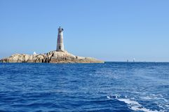 Lighthouse of Monaci Islands Royalty Free Stock Photo