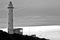 Lighthouse monochrome. Black and white photography Lighthouse Stock Photography
