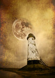 Lighthouse and moon Royalty Free Stock Photo