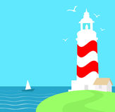 Lighthouse at Morning. Lighthouse is a  illustration Stock Images