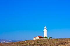 Lighthouse with mountain Royalty Free Stock Photos