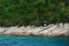 Lighthouse on a mountain, Montenegro, Adriatic sea. Royalty Free Stock Photo
