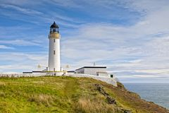 Lighthouse at Mull of Galloway, Dumfries and Galloway, Scotland. The lighthouse at the Mull of Galloway, the most southerly point of Scotland Royalty Free Stock Image