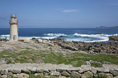 Lighthouse of Muxia, Galicia Royalty Free Stock Photos