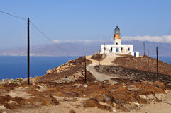 Lighthouse on Mykonos island in Greece Royalty Free Stock Photo