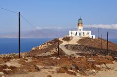 Lighthouse on Mykonos island in Greece Royalty Free Stock Photo
