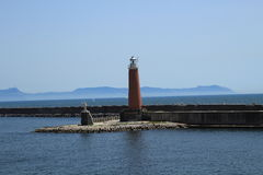 Lighthouse. In Naples port in Italy Stock Image