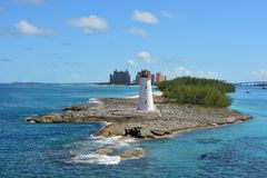 Lighthouse, Nassau, Bahamas stock images