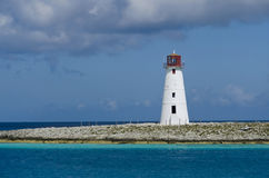 Lighthouse in Nassau harbor Royalty Free Stock Photography