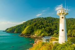 Lighthouse in national park Mu Koh Lanta, Koh Lanta, Krabi, Thailand stock image