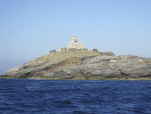 A lighthouse near Andros Greece Stock Image