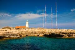 Lighthouse near Ayia Napa Stock Photos