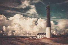 Lighthouse near beautiful bay Stock Photo