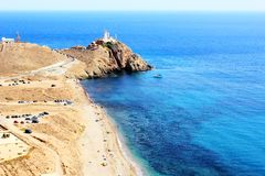 LIGHTHOUSE NEAR CABO DE GATA Stock Photography