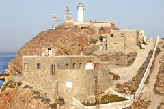LIGHTHOUSE NEAR CABO DE GATA Royalty Free Stock Images