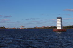 Lighthouse near Kronstadt Stock Images