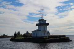 Lighthouse near Kronstadt Stock Photography