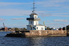 Lighthouse near Kronstadt Stock Image