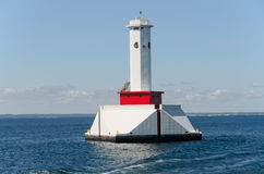 Lighthouse near Mackinac island Michigan royalty free stock photography