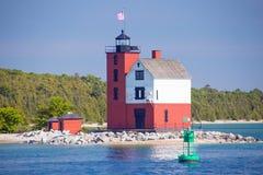 Lighthouse near Mackinac Island, Michigan royalty free stock photography
